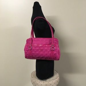 Pink Quilted Vera Bradley Frill Purse Bag